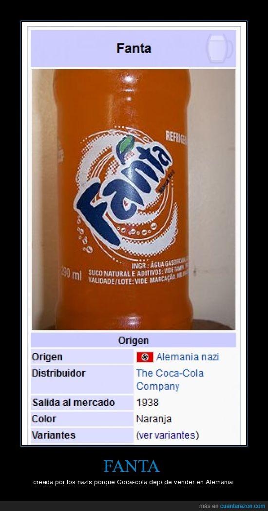 alemania,alemania nazi,coca-cola,fanta,nazis