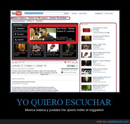 clasica,Musica,reggaeton,sugerencias,youtube