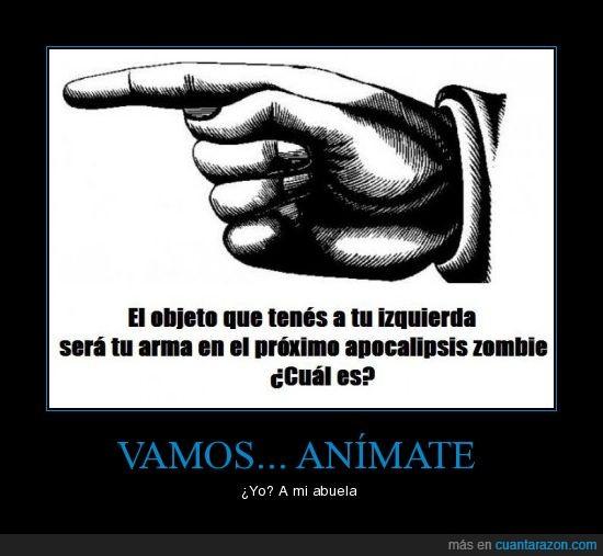 Abuela,Animate,Apocalipsis,Objeto,Vamos,Zombie