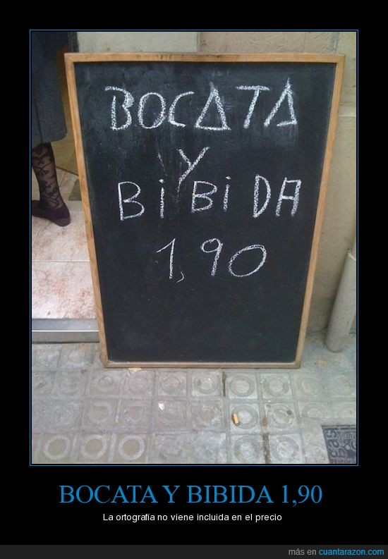 bebida,bocata,ortografia