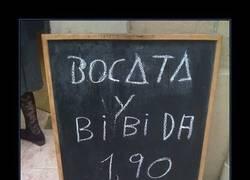 Enlace a BOCATA Y BIBIDA 1,90