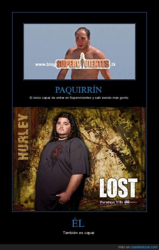 gordo,hurley,isla,lost,paquirrin,supervivientes