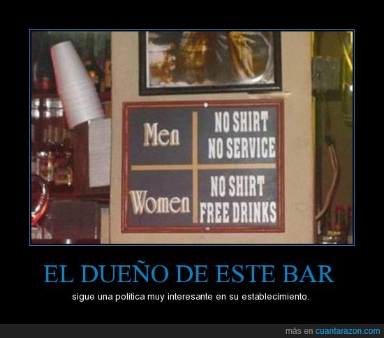 bar,bebida,bebida gratis,camisetas,free drinks