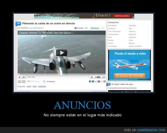 anuncios,avión,caída