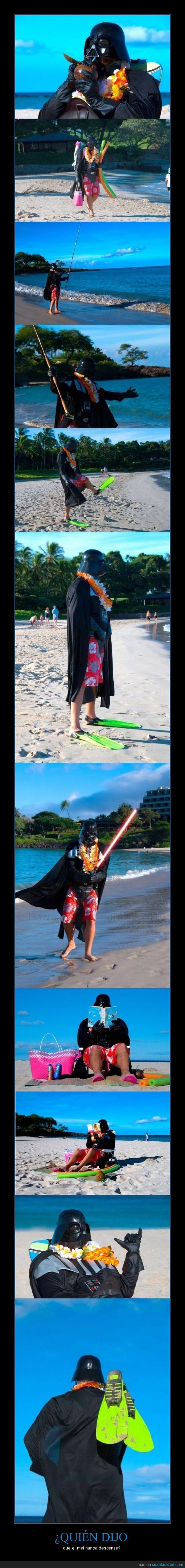 Darth Vader,hawaii,playa,vacaciones