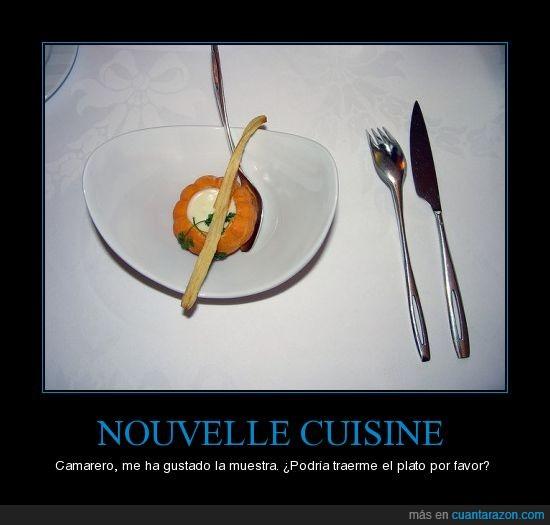 estafa,Nouvelle cuisine,poca comida
