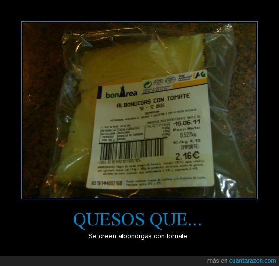 albondigas,area guisona,queso,tomate