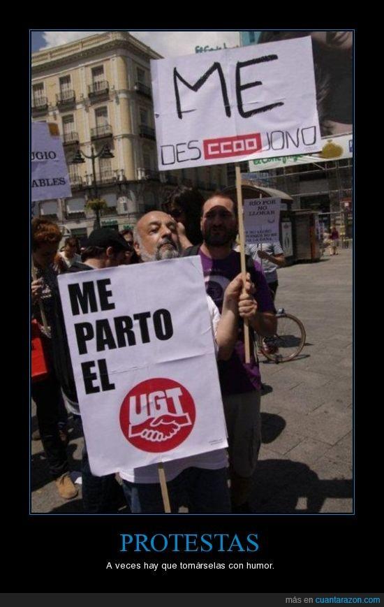 ccoo,protesta,ugt