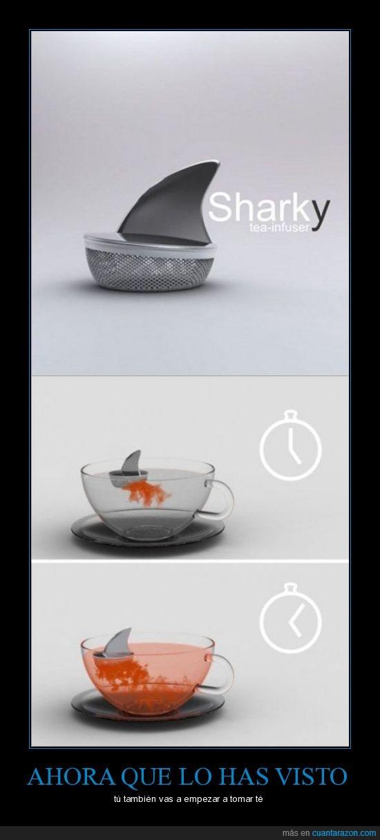 inventos,shark,té