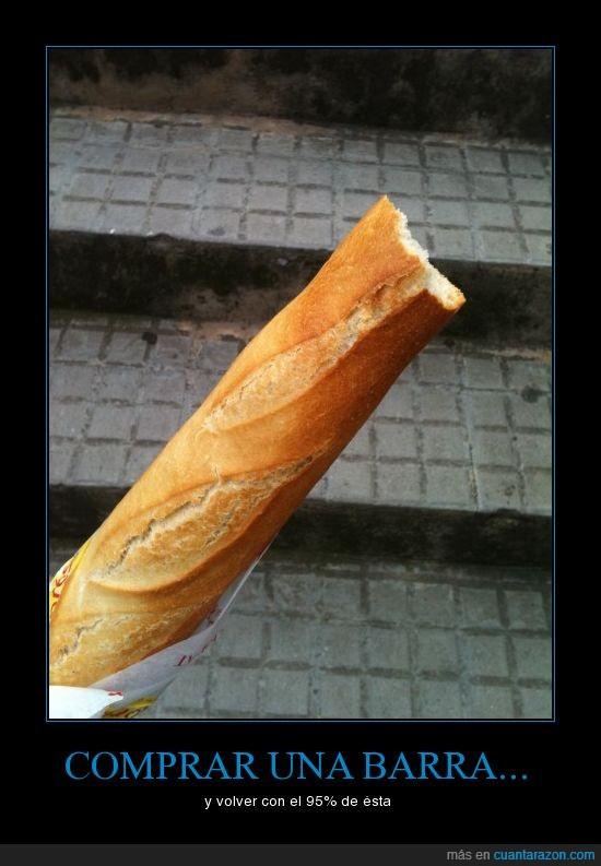 barra de pan,picar,volver