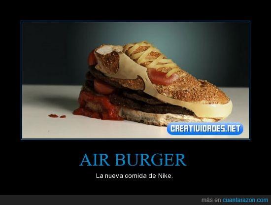 deportiva,hamburguesa,nike,zapatilla