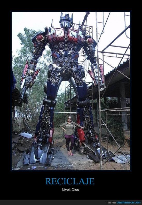 Chatarra,Dios,Nivel,Reciclaje,Transformers