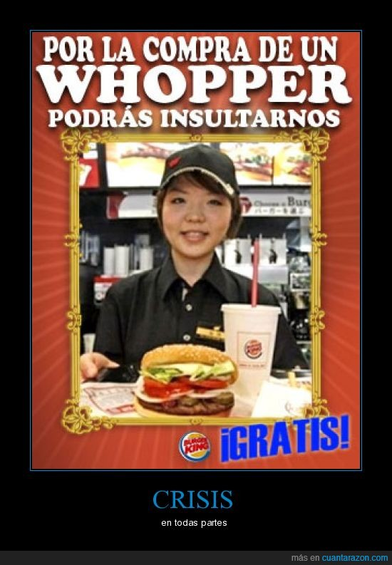 burger king,insultar,menu,mundotoday