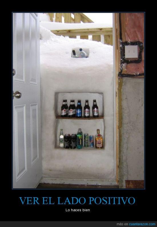frigorifico,nieve,puerta