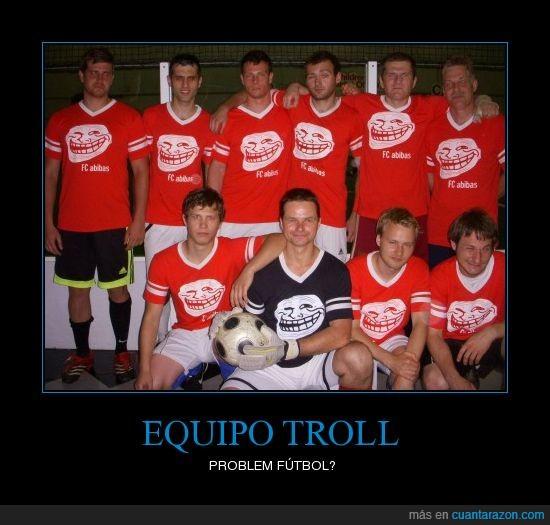 equipo,fútbol,troll