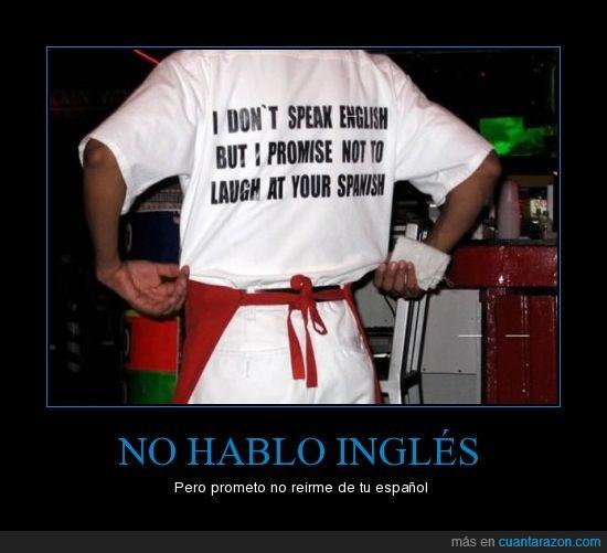 español,inglés,reír