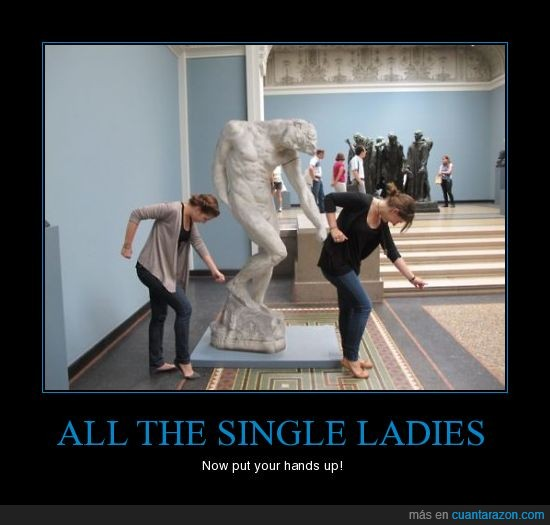 bailar,beyonce,chicas,estatua,single ladies