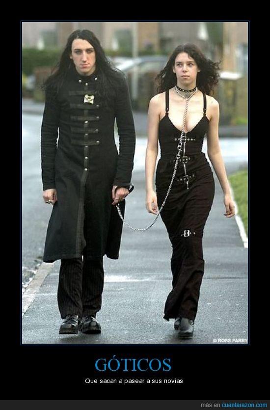 gotico,pareja,pasear
