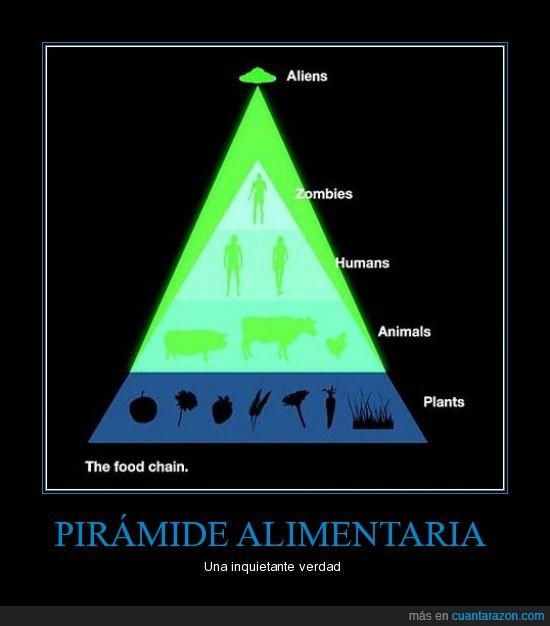 ovni,piramide alimentaria,zombie