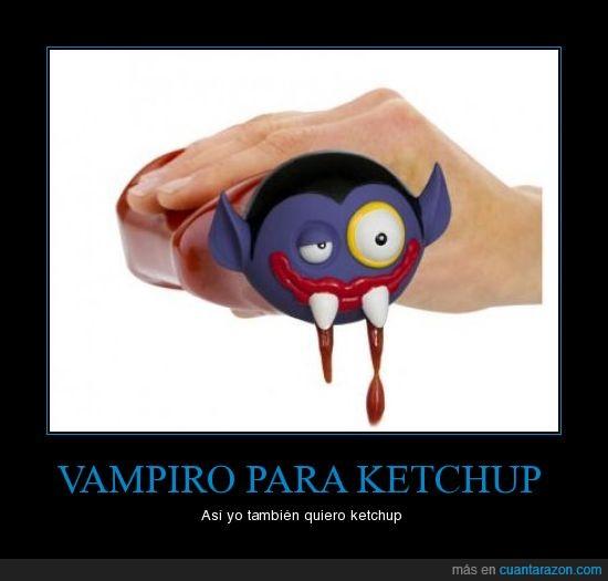 colmillos,ketchup,vampiro