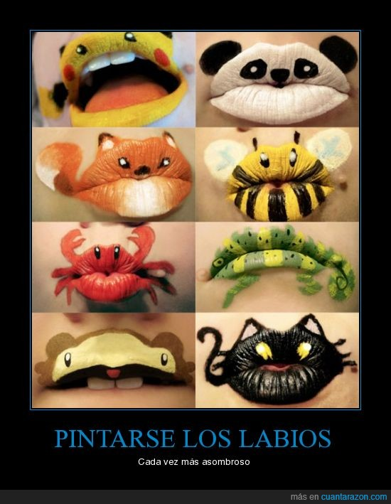 animales,labios,maquillaje,Pintalabios
