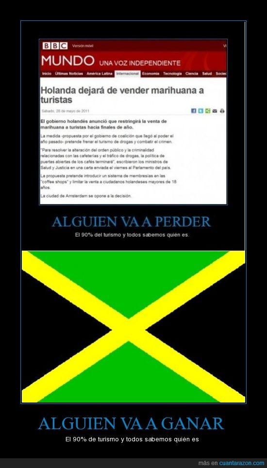 ganar,holanda,jamaica,marihuana,perder,turismo,turistas