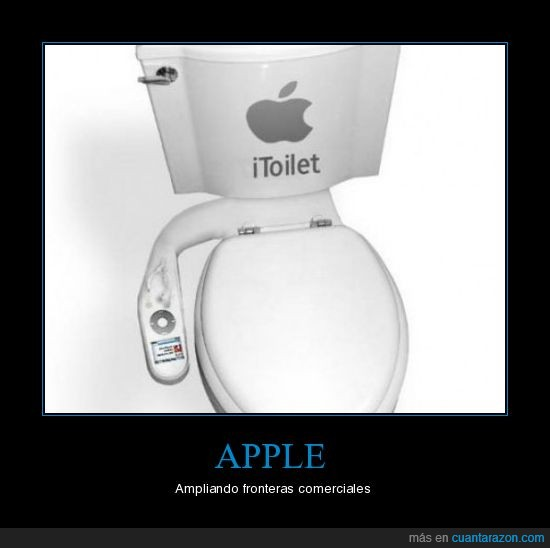 Apple,comercio,Itoilet,mando,WC