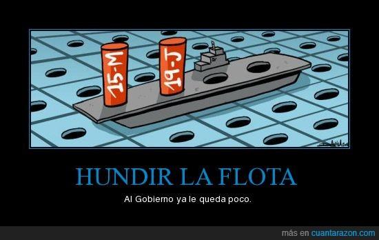 hundir la flota,manifestaciones