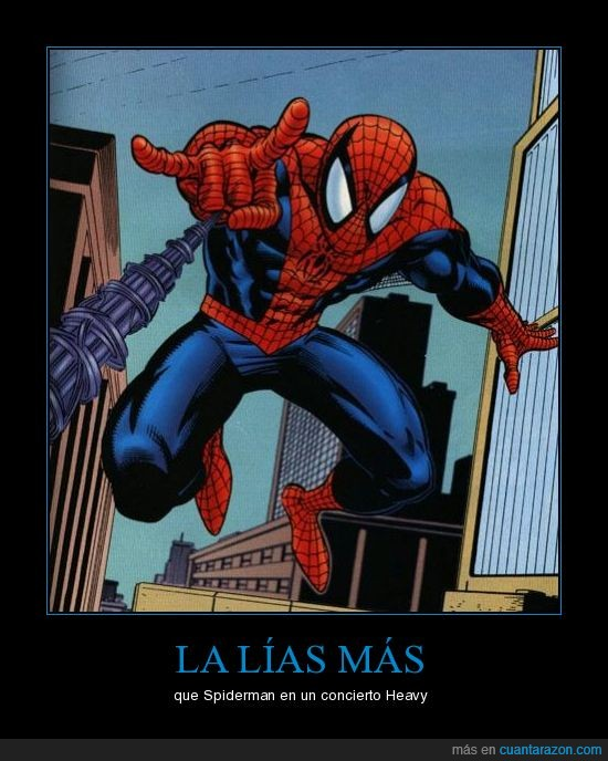 concierto,heavy,spiderman
