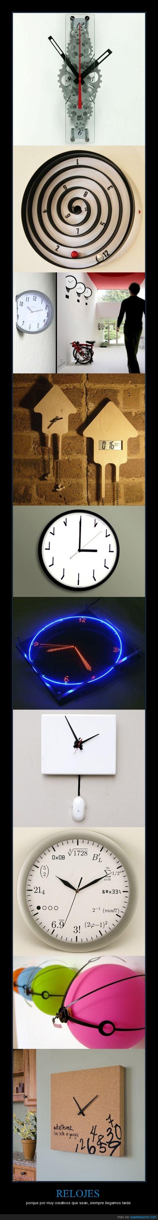 creativos,curiosos,llegar,relojes,tarde