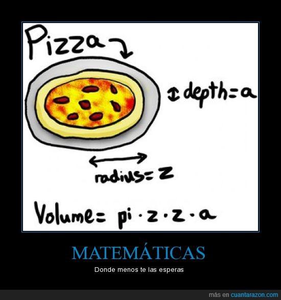 matematica,matematicas,pizza,radio,volumen