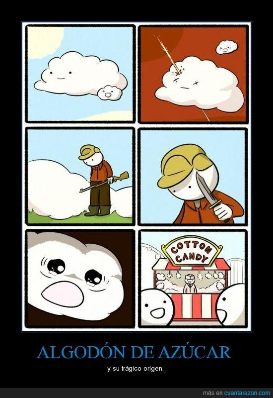 algodón de azúcar,dulce,nube,tragedia
