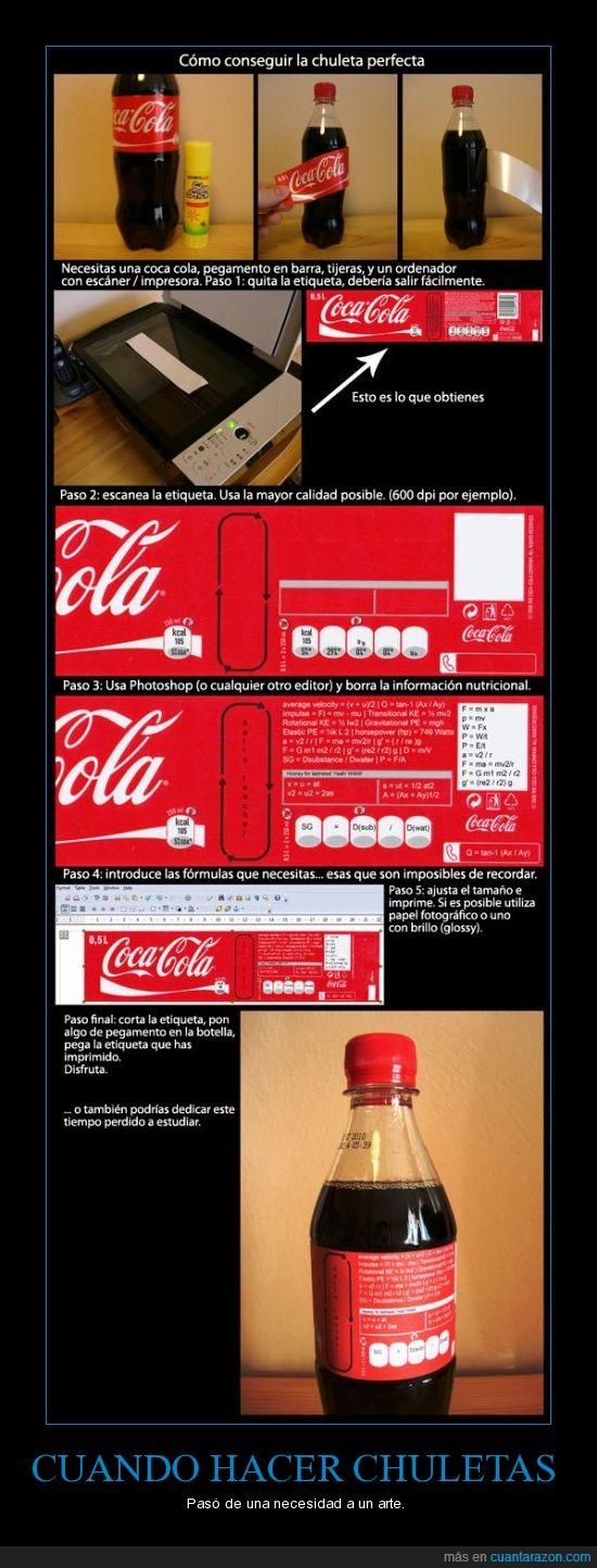 arte,chuleta,Coca cola,etiqueta