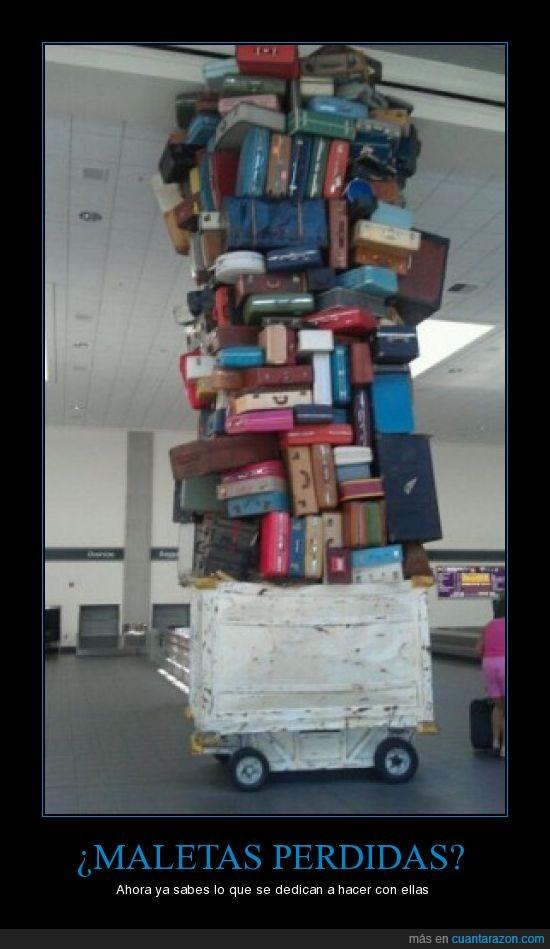 aeropuerto,maletas,montaña,pila