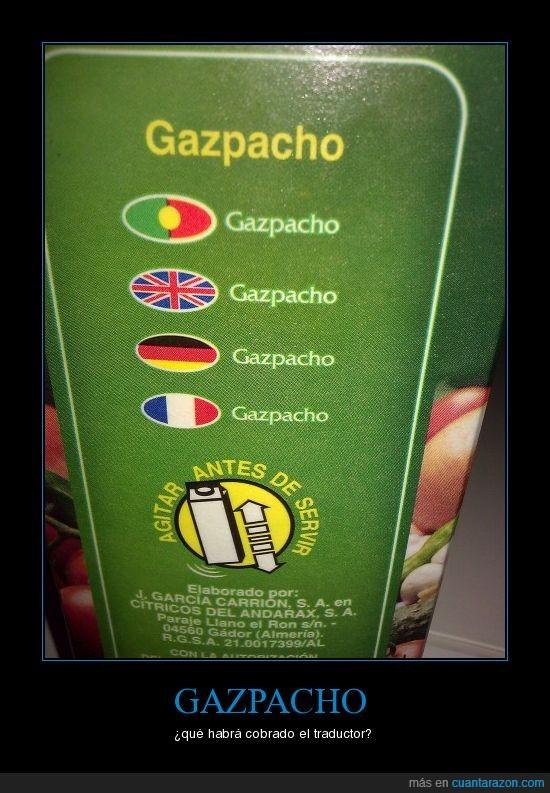 gazpacho,sentido,sin,traducción