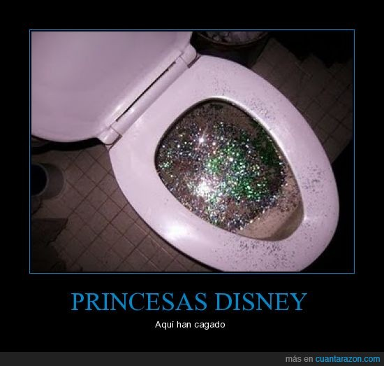 baño,cagar,disney,princesas,purpurina
