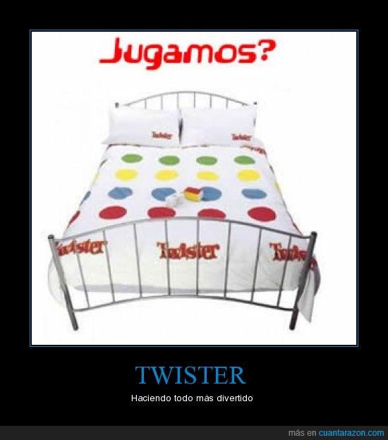 cama,divertido,Twister
