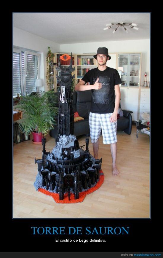 Barad-dûr,freak,Lego,Señor de los Anillos