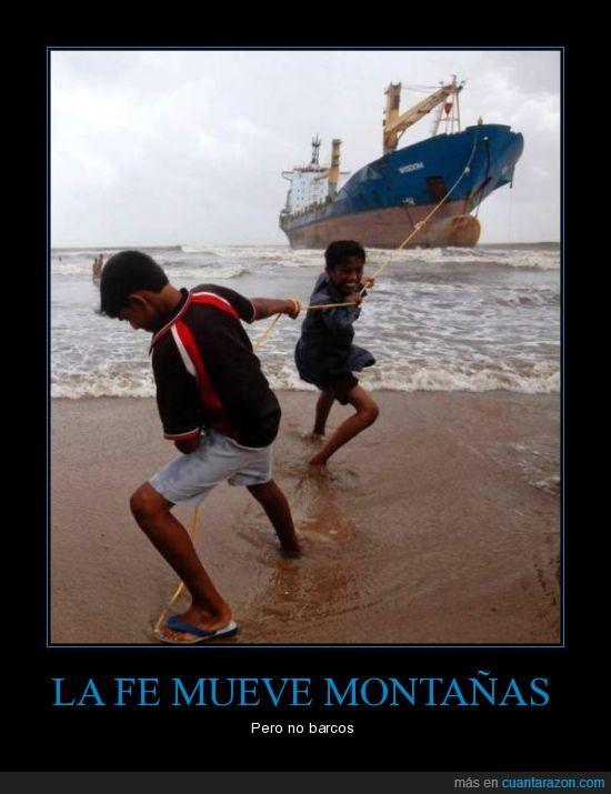 barco,cuerda,esfuerzo,fe,inútil