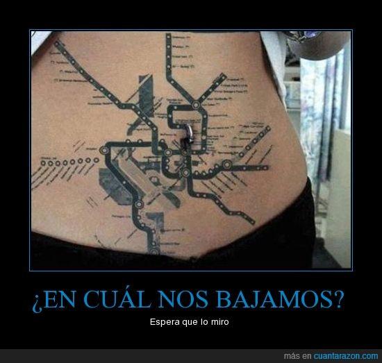 plano de metro,Tatuaje