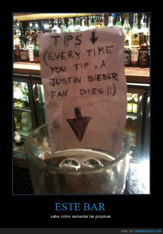 bar,bieber,fans,justin,propinas