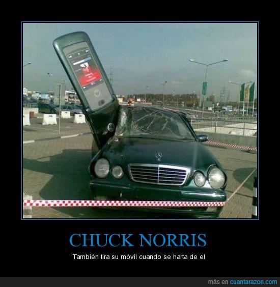 accidente,Chuck,coche,movil,Norris,roto