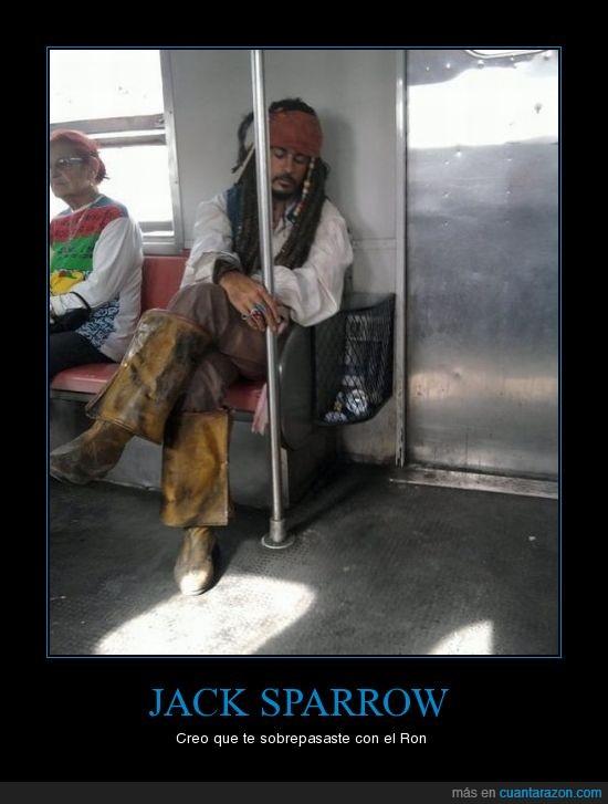 borracho,botellon,jack sparrow,metro,resaca,Ron