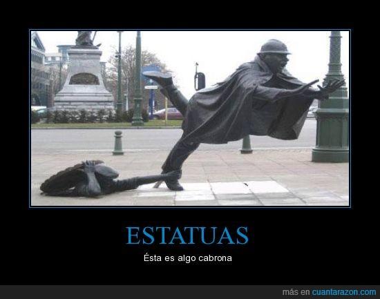 estatua,zancadilla