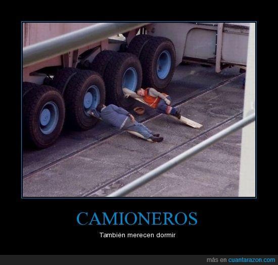 camioneros,dormir,siesta