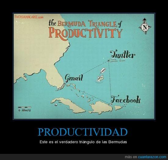 bermudas,facebook,gmail,productividad,trabajo,triangulo,twitter