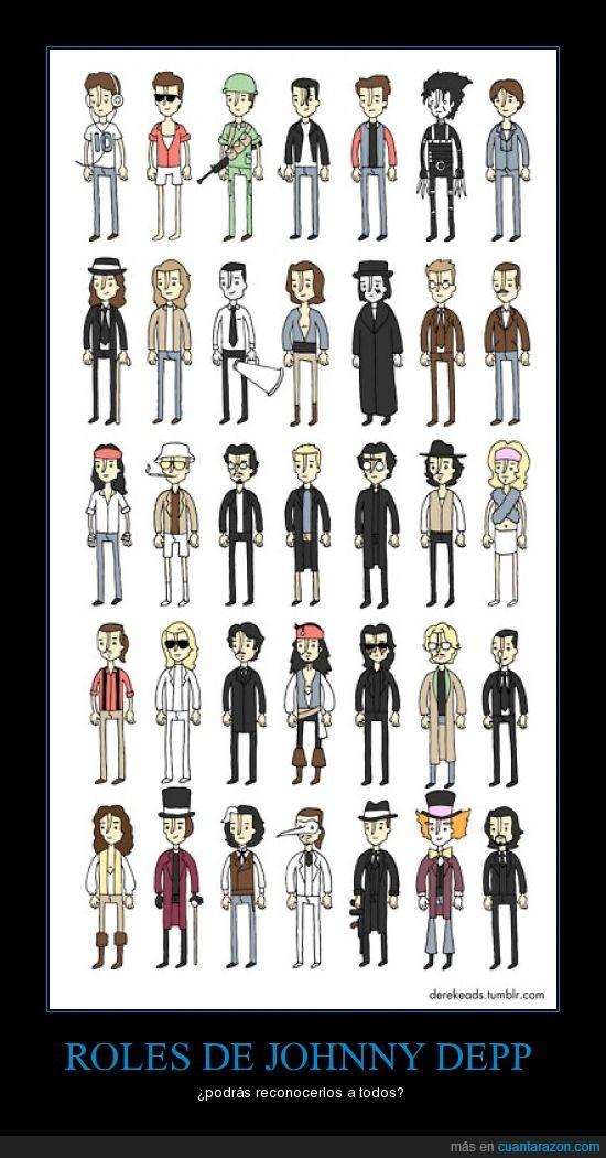 Johnny Depp,películas,personajes,reconocer