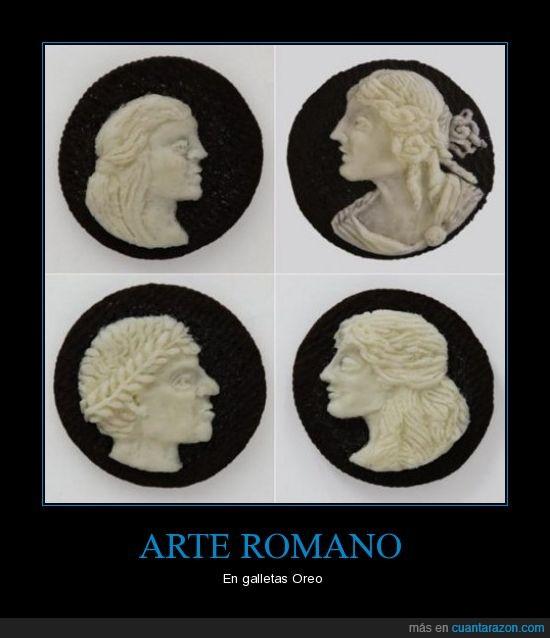arte,galletas,oreo,romano