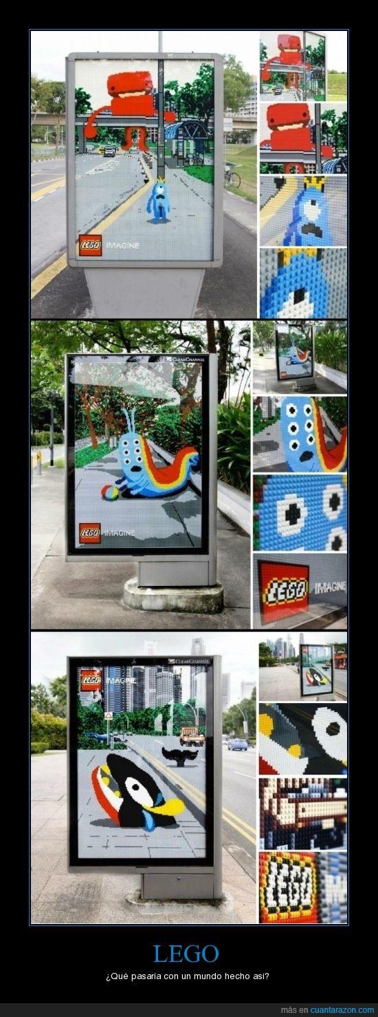 anuncio,cartel publicitario,lego