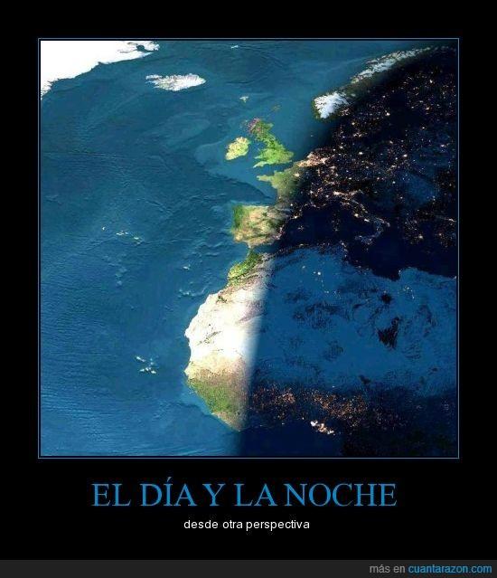 africa,día,europa,noche,prespectiva,sol